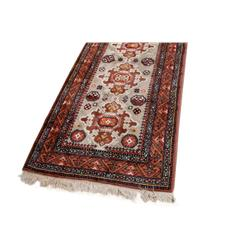 "Hand Woven Wool Persian Runner approx 104""X34"". Very good overall condition. Colors are browns and g"