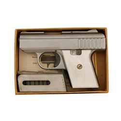 Raven Mdl P25 Cal .25 SN:039140 Single action semi auto pocket pistol made in the U.S.A.. Stainless
