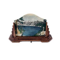 Art Deco Table Lamp with Crater Lake Scene 3D Picture3D Picture