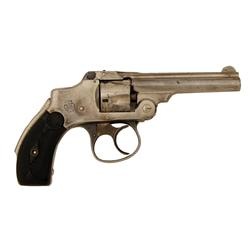 Smith & Wesson New Departure Cal .32 S&W SN:169203, Nickel plated, hard rubber grips, shows 50-70% t