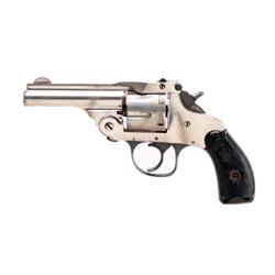 Forehand Arms DA Cal .38 SN:155890 Double action top break 6 shot revolver. Nickel finish, black che