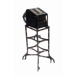 Burroughs Antique Adding Machine with stand beveled-glass sides, excellent original conditionwith st