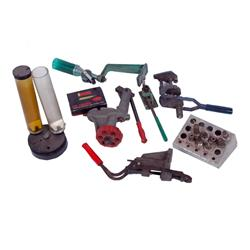 Lot of Reloading Equipment including Lyman, Lee and RCBS equipment, powder dispenser, press, dies, e