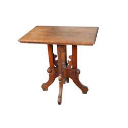 "Eastlake Style Oak Parlor Table Circa 19th century, 30""L, 21 1/2""D, 29""H.Circa 19th century, 30""L, 2"