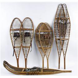 Lot of Four Antique Snow Shoes