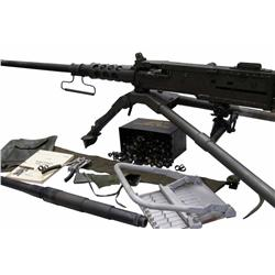 TNW Browning Patent Semi-Auto Cal .50 Machine Gun SN:000122, includes two barrels which one has neve