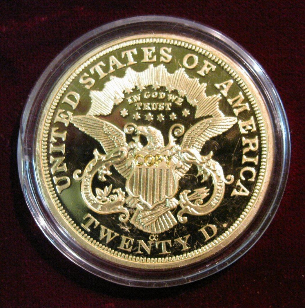1203  1870 CC $20 Gold Liberty Proof Copy  Encapsulated