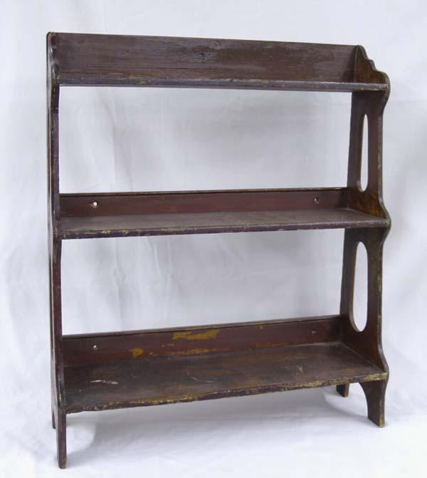 Antique Wooden Knick Knack Shelf