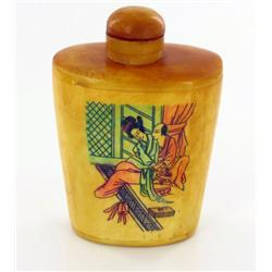 Kamasutra Chinese Bone Snuff Bottle  (CLB-559)