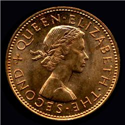 1960-64 New Zealand Half Pennies Unc/BU (COI-3669)