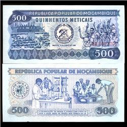 1983 Mozambique 500 Meticals Crisp Unc (COI-3822)