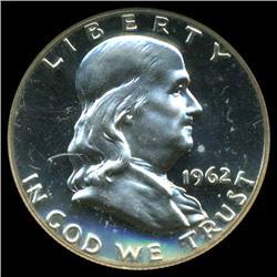 1962 Franklin Half Dollar Proof Super GEM Graded (COI-3876)