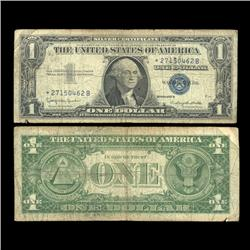 1957B $1 Silver Certificate Star Note Circulated RARE (COI-4698)
