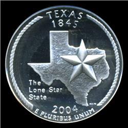 2004S Texas Silver Quarter Graded NGC PR70 DCAM (COI-5467)