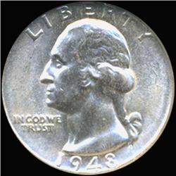1948D Washington 25c Silver Quarter Coin Graded GEM (COI-6819)