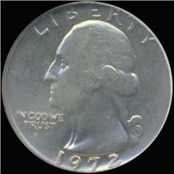1972 Washington 25c Quarter Coin Graded GEM (COI-6867)