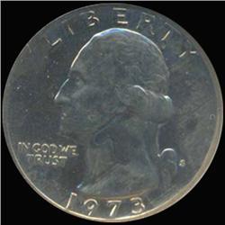 1973S Washington 25c Quarter Coin Graded GEM Proof Cameo (COI-6872)