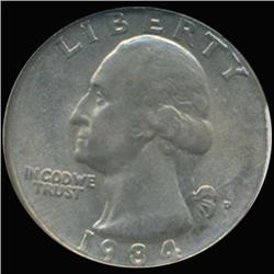 1984D Washington 25c Quarter Coin Graded GEM (COI-6895)