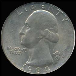 1984D Washington 25c Quarter Coin Graded GEM (COI-6895)