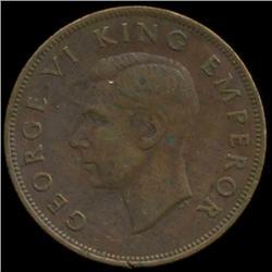 1943 New Zealand Penny George VI Hi Grade (COI-6972)