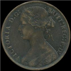 1870 Britain Victoria Penny High Grade (COI-7048)