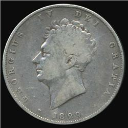 1829 Britain George IV Half Crown Better Grade (COI-7080)