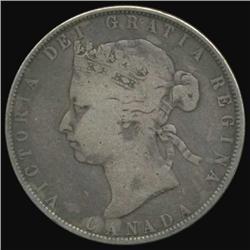 1870 Canada Half Dollar Better Grade (COI-7102)