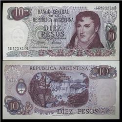 1973 Argentina 10 Peso Note Crisp Uncirculated (CUR-05543)