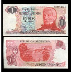 1983 Argentina 1 Peso Note Crisp Uncirculated (CUR-05552)