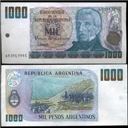 1983 Argentina 1000 Peso Note Crisp Uncirculated (CUR-05559)