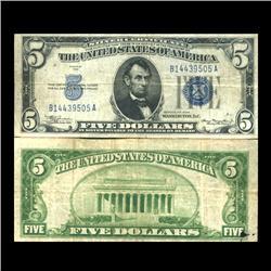 1934 $5 Silver Certificate Crisp Circulated (CUR-06039)