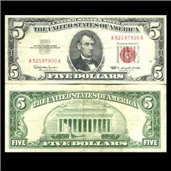 1963 $5 US Note Crisp Circulated (CUR-06053)