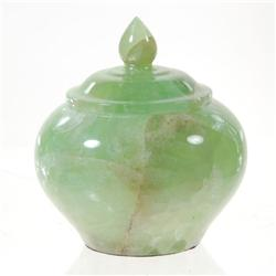 Green Jade Vase With Lid  (DEC-021)