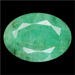 0.99ct SI Oval Cut Top AAA Natural Green Colombian Emerald (GEM-13930)