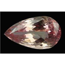 24ct Natural Pear Cut Imperial Pink Kunzite Appraisal Estimate $9600 (GEM-17901)