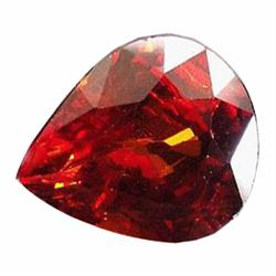 2.87ct Gorgeous Pear Top Orange Mandarin Spessartite Garnet Namibia Top Flash VVS (GEM-19527)