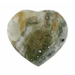 450ct Colorful Gem Grade Sea Jasper Heart (GEM-21151)