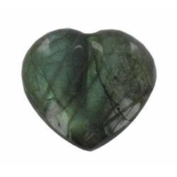 70.44ct Gem Grade Labradorite Polished Heart Neon Peacock Colors (GEM-21174)
