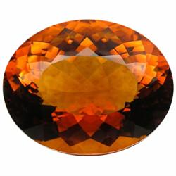 137.0ct AAA Huge Madeira Brazil Citrine Oval   (GEM-23748)