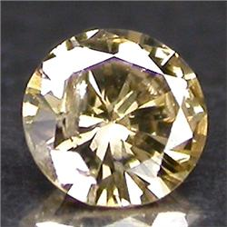 0.1ct. Beautiful Sparkling Natural Color Diamond Round Cut (GMR-0150)