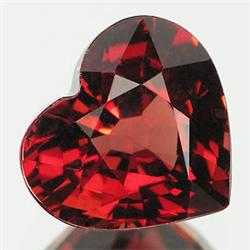 1.1ct. Very Firey Red Natural Spessartite Garnet Heart SUPER GRADE 7mm (GMR-0164)