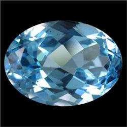 1.1ct Beautiful Sky Blue Natural Topaz Brazil (GMR-0420A)