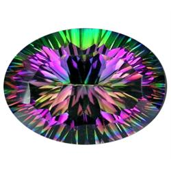 46ct Top Grade Blazing Color Oval Mystic Topaz  (GMR-0958)