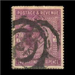 1902 RARE British 2.5 Shilling Edward Stamp Hi Grade (STM-0028)