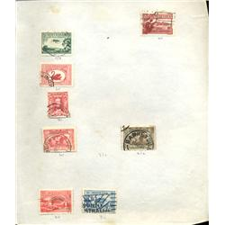 1930s Australia Hand Made Stamp Collection Album Page 8 Pieces (STM-0234)