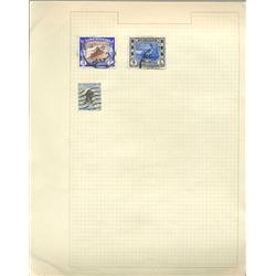 1950s Sudan Hand Made Stamp Collection Album Page 3 Pieces (STM-0252)