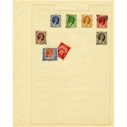1950s Rhodesia Hand Made Stamp Collection Album Page 8 Pieces (STM-0279)