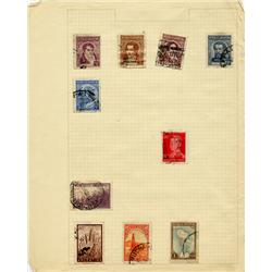 1930s/50s Argentina Hand Made Stamp Collection Album Page 10 Pieces (STM-0285)