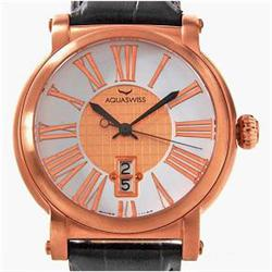 New Aquaswiss Mens Rose Gold/SS Sport Watch Retail $2825 (WAT-121)