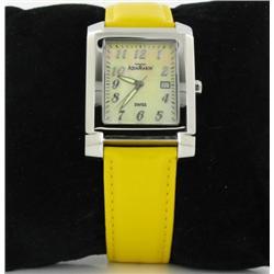 New Aqua Marin Men's Tank Style Skeleton Watch  Retail $1495 (WAT-156)